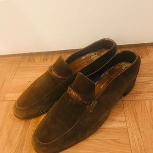 Bally men's brown suede shoes size 10.5